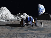 Lunar explorers Royalty Free Stock Images