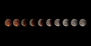 lunar förmörkelse Royaltyfria Bilder