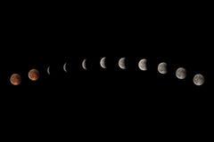 lunar förmörkelse arkivbilder