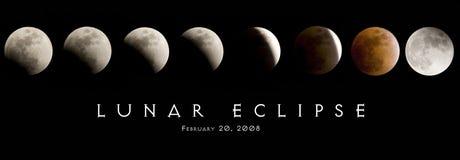 lunar förmörkelse 2008 Arkivbild