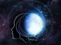 Lunar Geometry Royalty Free Stock Images