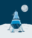 Lunar landing retro style stock illustration