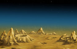 Lunar landscape Royalty Free Stock Photography