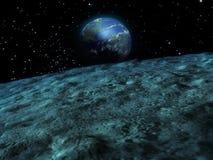 Lunar landscape 2 Royalty Free Stock Image