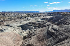 Lunar landscape in the Ischigualasto National Park, Argentina Stock Photography
