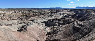 Lunar landscape in the Ischigualasto National Park, Argentina Royalty Free Stock Photos
