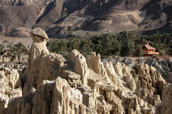 Lunar landscape in Moon Valley, La Paz, Bolivia Stock Photography