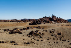 Lunar landscape of Teide National Park Stock Image