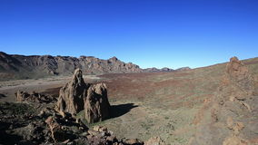 Lunar landscape in Teide National Park, Tenerife, Canary Islands stock video