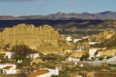 Lunar-like landscape of Guadix Stock Photography
