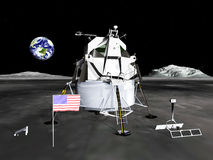 Lunar Module. The Apollo Lunar Module was the lander portion of the Apollo spacecraft Stock Image