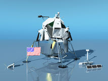 Lunar Module. The Apollo Lunar Module was the lander portion of the Apollo spacecraft Royalty Free Stock Photography