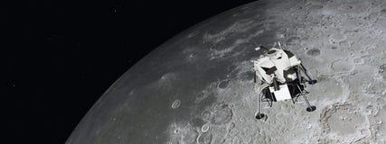 Lunar Module near the moon Stock Image