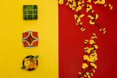 Lunar New Year's flat-lay photo royalty free stock photos