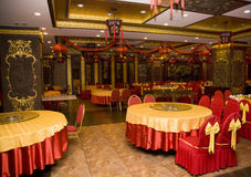 Lunar New Year Decorations Chinese Restaurant Royalty Free Stock Photography