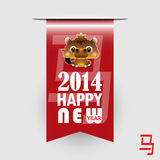 Lunar New Year of the Horse Zodiac. 2014 Chinese Lunar New Year of the Horse Zodiac Royalty Free Stock Images