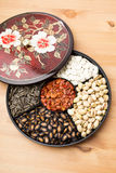 Lunar New Year snack tray Royalty Free Stock Image