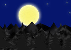 Lunar Night Royalty Free Stock Photos