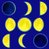 Lunar phase Stock Photo