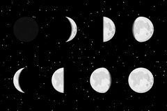 Lunar Phases Royalty Free Stock Images