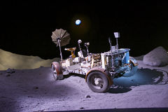 Lunar Rover Trainer. On display at the NASA Johnson Space Center in Houston, Texas on loan by the Smithsonian Institute; was used to train astronauts in Houston Royalty Free Stock Photo