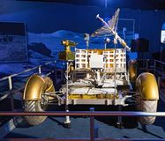 Lunar Roving Vehicle. Prague, Czech Republic - March 15, 2015, Lunar Rover. World Tour - Gateway to the universe - exhibition in Prague. NASA / Apollo space Royalty Free Stock Image