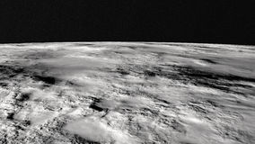 The lunar surface Royalty Free Stock Photos