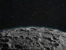 Lunar surface stock illustration