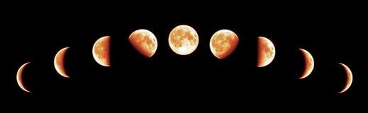 lunar total för förmörkelse arkivbilder