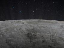 Lunar yttersida arkivfoto