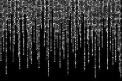 Lunares blancos y negros en fondo negro, en estilo de la matriz Foto de archivo libre de regalías