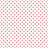 Lunares rojos en el modelo blanco Imagen de archivo