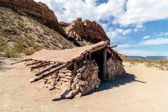 Lunas Jacal i den stora krökningnationalparken Texas Arkivbilder