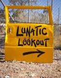 lunatic utkik Arkivbilder