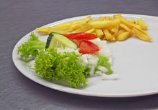 Lunch. Fresh vegetable on plate stock photography
