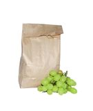 Lunch in a bag. With grapes Stock Images