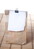 Lunch bag. With receipt,close up photo Royalty Free Stock Images