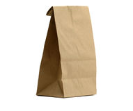Lunch Bag with Clipping Path Royalty Free Stock Images