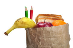 Lunch bag - path Royalty Free Stock Photo