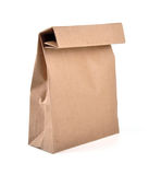 Lunch bag - path. Lunch bag with clipping path on isolated background Royalty Free Stock Photos