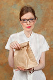 Lunch bag Royalty Free Stock Photography