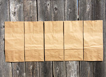 Brown paper  bags. Some brown  paper  bags background Stock Images