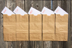 Lunch bags Royalty Free Stock Photography