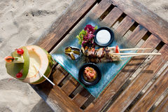 Lunch by the beach Royalty Free Stock Photography