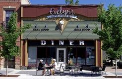 Lunch bij diner in Hoge Rivier, Alberta Canada royalty-vrije stock afbeelding