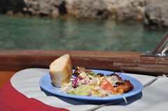 Lunch on boat Royalty Free Stock Photo