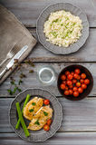 Lunch bodybuilders Royalty Free Stock Images