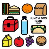 LUNCH BOX COLOR Royalty Free Stock Image