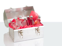 Lunch box and drinks Stock Photo