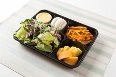 Lunch box food for diet stock photos
